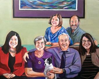 Custom Family Portrait 8x10 acrylic on canvas