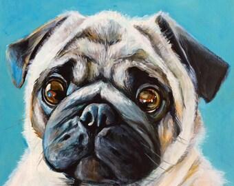 "Custom Portrait of ANYTHING - 8""X10"" acrylic on canvas"