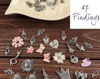28 Charms and 47 Jewlery Findings