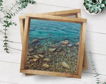 Fine Art Print, Lake Tahoe Art, Tahoe Photo, Lake Art, Teal, Lake Photo, Rocks in Water, Zen Print, Vacation Art, Resort Art, Cabin Decor