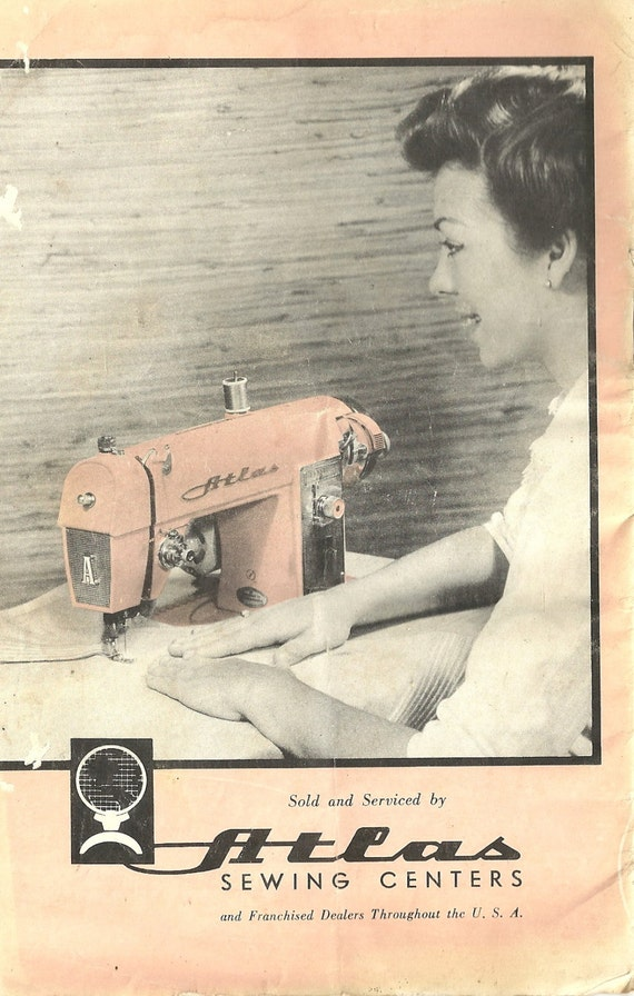Kathy's retro sewing blog: the mythical pink atlas sewing machine.