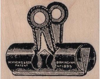 S1536 Planner Stamp 20mm  Mini Stamps Binder Clips Stamp 16mm Paper Clamp Rubber Stamp Cute Paper Clamp Stamp