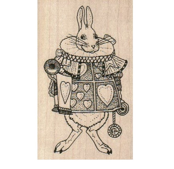 Bunny Stamp Rabbit Rubber Stamp March Hare RUBBER STAMP Alice in Wonderland Rubber Stamp Tea Party Stamp Hare Stamp Wonderland Stamp