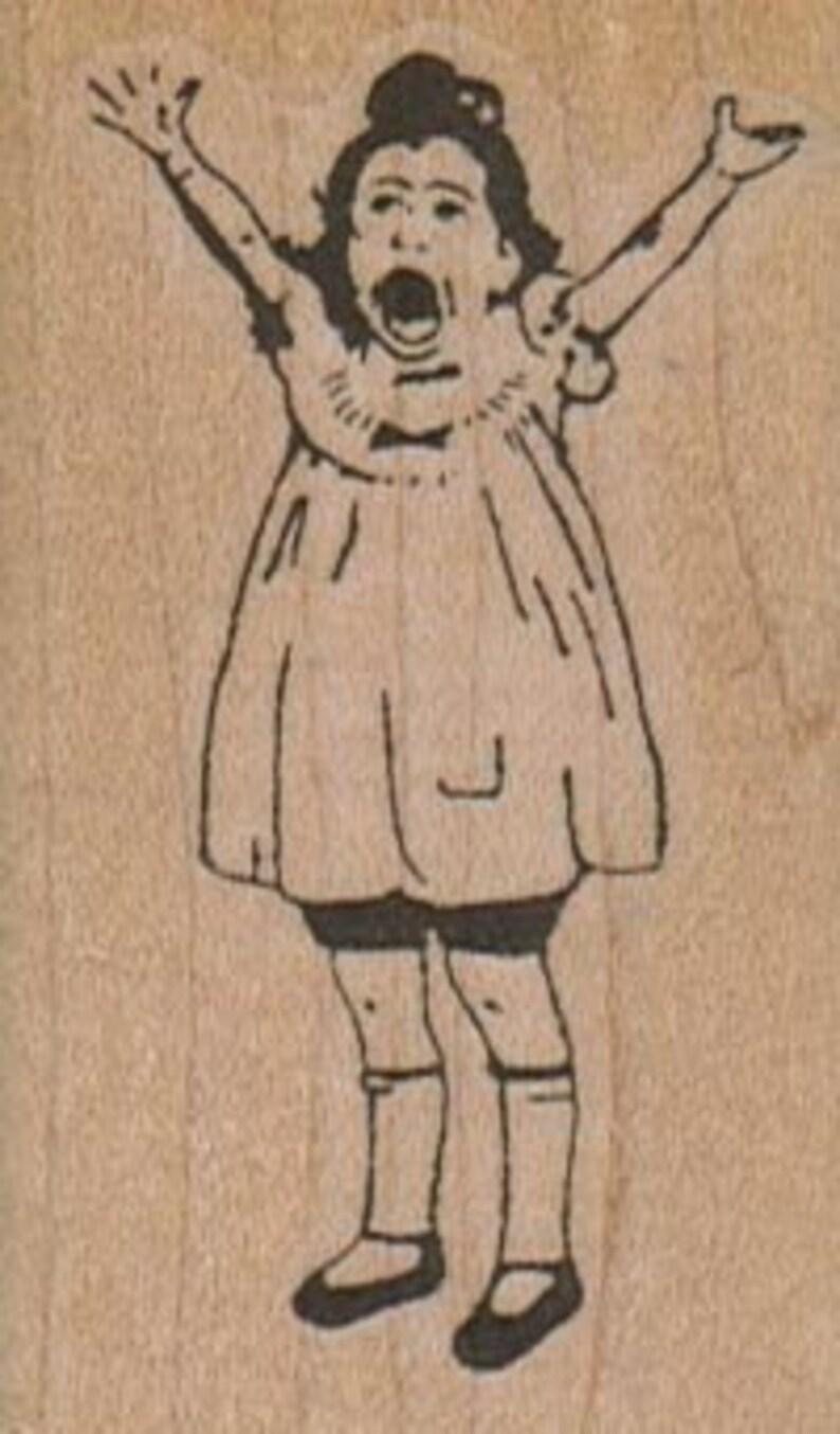 Rubber stamp tweedle dum and tweedle dee Alice in Wonderland   unMounted  scrapbooking supplies number 10526