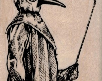 Plague Doctor rubber stamp     whimsical  by Mary Vogel Lozinak  tateam EUC team  19412 oddities