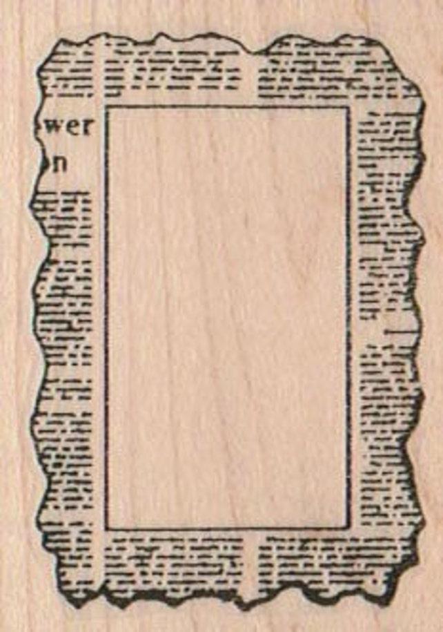 Rubber stamp Newspaper Print Stamp Border   wood Mounted  scrapbooking supplies number 10139