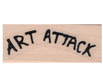 Quote  rubber stamp Banksy Art Attack stamps stamping street art graffiti.20654