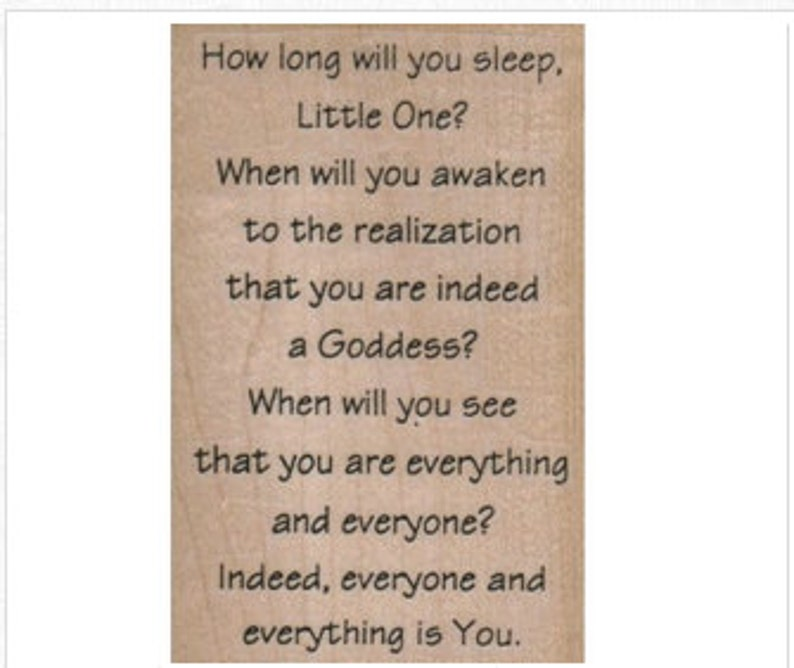 Quote Rubber Stamp Poem How Long Will You Sleep 8520 Stamps