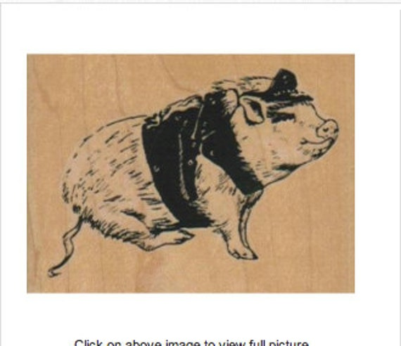 pig leather rubber stamp biker hog stamping scrapbooking etsy