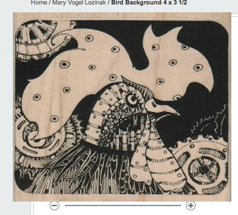 unmounted stamp Steampunk supplies Large rooster bird stamp whimsical  Rubber Stamp by Mary Vogel Lozinak  tateam EUC team  18364