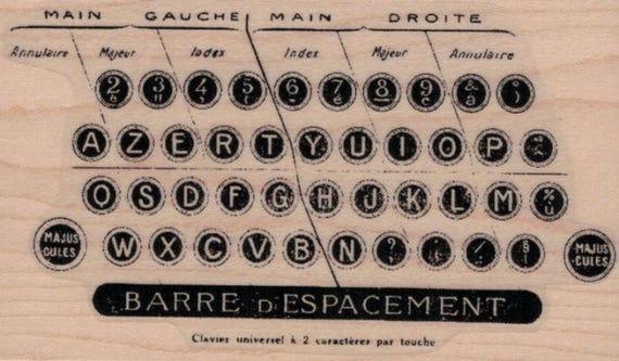 Rubber Stamp Typewriter Keys By Cat Kerr Stamps Stamping No   Etsy