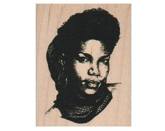 Black woman rubber stamps African American arms covering chest  Lady Large  rubber stamp number 8931