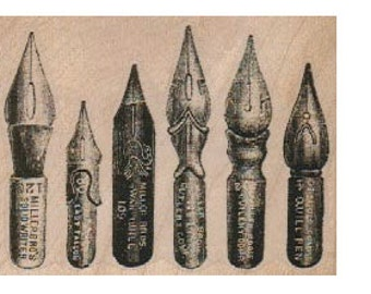 Rubber stamp Fountain  set of Pen ink nib tips   scrapbooking supplies 18792  holzstempel