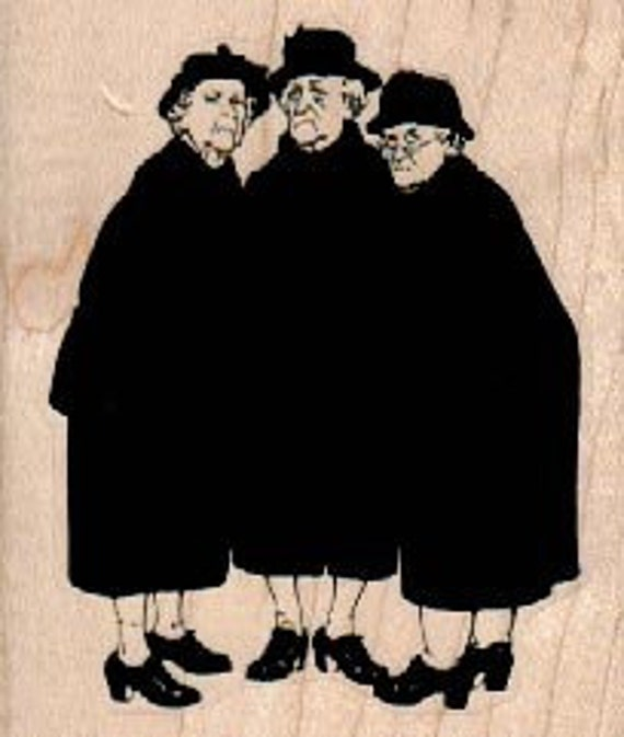 Old ladies best friends   stamp    rubber stamp    stamp number 17845