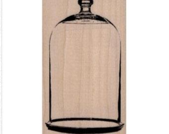 rubber stamp Bell Jar   Large glass jar victorian stamping craft supplies anatomie aufkleber scrapbooking 19660
