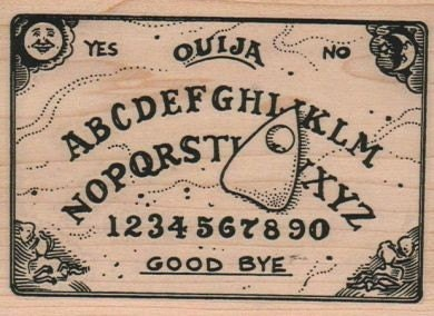Large Halloween Stamps Ouija Board Rubber Stamps Wood Etsy