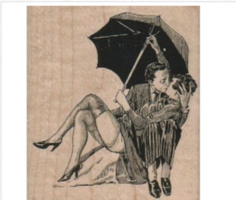 couple rubber stamps lovers kiss umbrella stamp stamping 17775 scrapbooking supplies