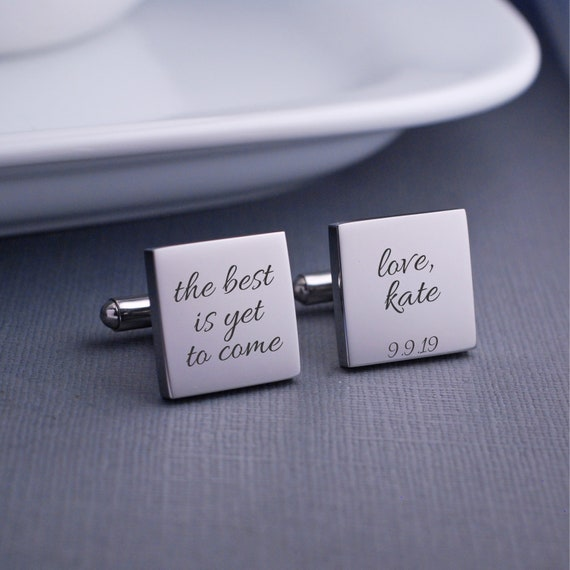 Wedding Gift For Husband Cufflinks The Best Is Yet To Come Etsy