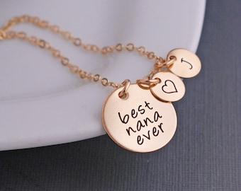 Best Nana Ever Necklace, Nana Necklace, Nana Gift, Nana Charm Necklace, Christmas Gift for Nana