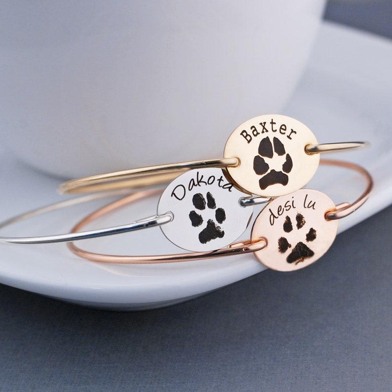 Real Paw Print Bracelet Unique Pet Gift Your Pet's image 0