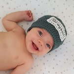 Monogrammed Newborn Hat, Personalized Baby Hat, Embroidered Baby Girl Hat, Baby Announcement Hat, Baby Reveal, Monogrammed Baby Boy Hat