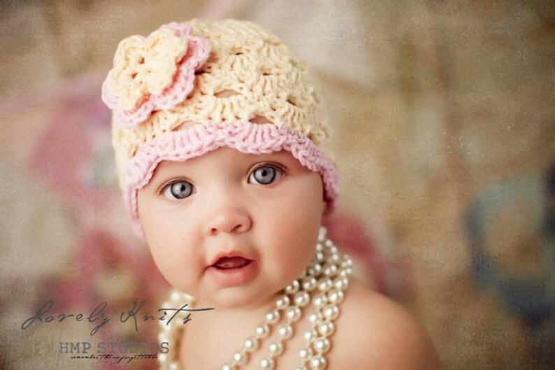 7dc3e501abc Crochet Baby Hat Baby Girl Hat Baby Girl Beanie Baby