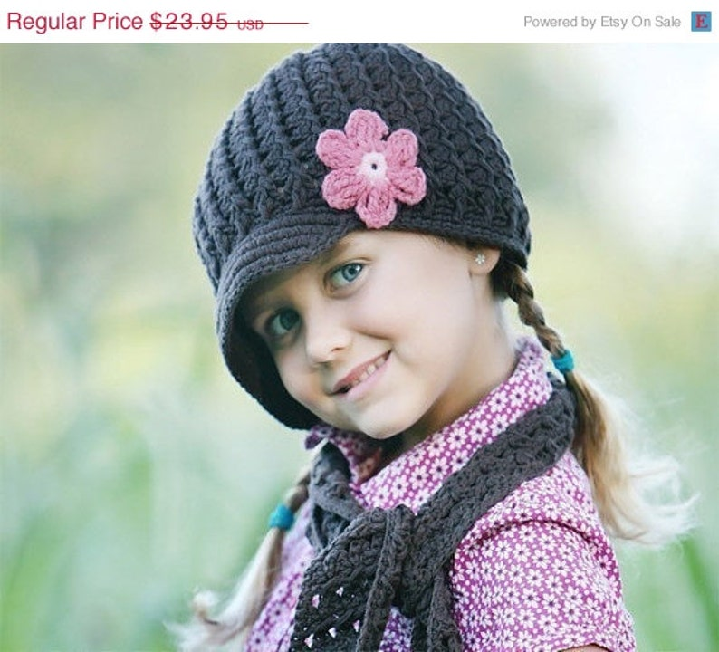 c8eab8c54db Hats for Toddlers Crochet Girls Hat in Chocolate Brown
