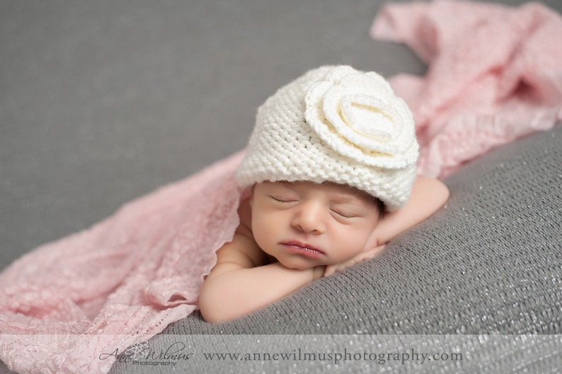2703270dad7 Knit Baby Hat Newborn Baby Girl Hat Infant Baby Girl Hats