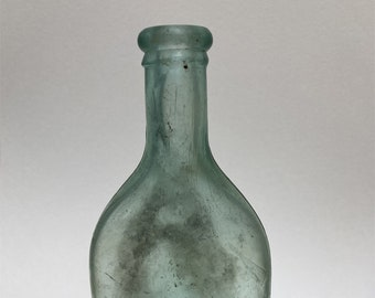 Antique green Ayers Hair Tonic Bottle, collectible c. late 1800's