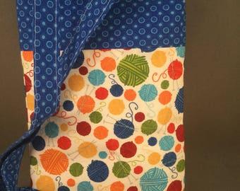 Fun, yarn ball mini ipad carrier or crossbody purse