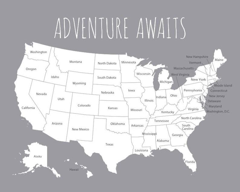 Carte De Voyage Etats Unis US Map Pour Les Lieux Visites