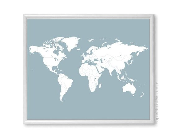 Black /& White Map of the world countries Map Art Ready to Hang Canvas X2354