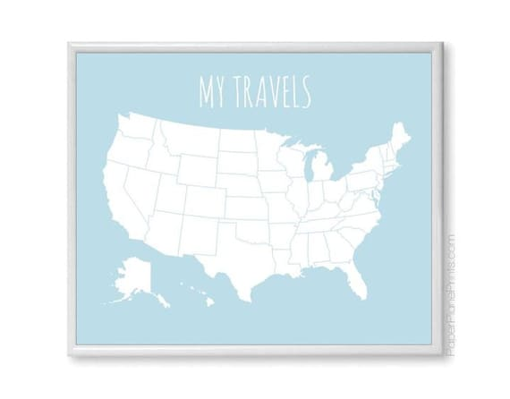 USA Travel Map   United States Map   Road Trip and Family Vacation on my island map, my va map, my world map, my usa flag,