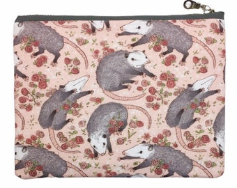 Opossum Print Bag—Makeup Bag, Pencil Case, Pouch, Possum, Marsupial, Forest, Animal, Nature, Cute