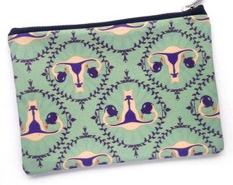 Uterus Bomb Zipper Pouch—Makeup Bag, Pencil Case, Feminism, Activism, Menstruation, OBGYN, Nurse, Doula, Reproductive Rights