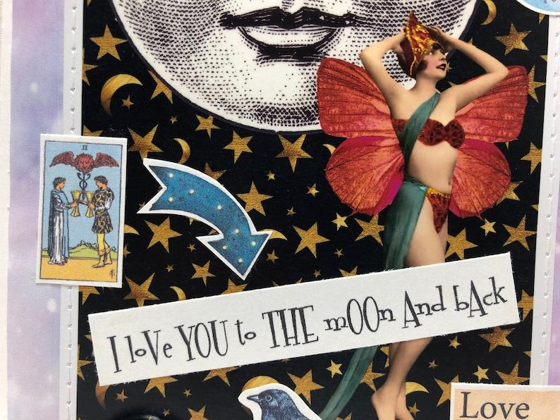 I Love You To The Moon and Back-Full Moon-The Moon /& The Stars-La Luna-Friendship-Anniversary-Fairy-Moon Goddess-Friendship-Magical--