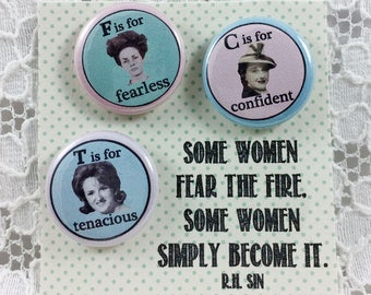 Be Fearless Self Esteem Girl Power Pins Women Are Strong Feminist Pins Powerful Women You Can Do It Believe in Yourself Gift for Feminist