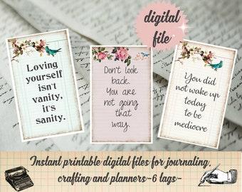 Love Yourself Affirmation Cards Printable Self Care You Got This Digital Ephemera Junk Journal Printable Self Love Positive Thinking Be Kind