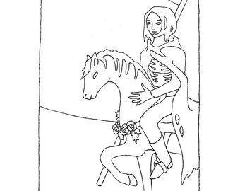 Custom Tarot Card Portrait Drawing