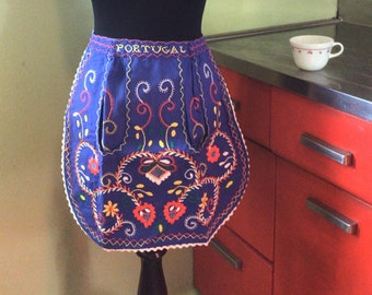 Vintage half-apron - I dream of Portugal!