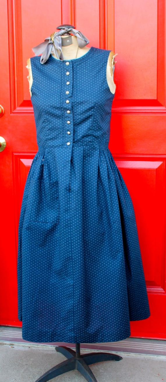 Vintage Dirndl Folk Dress