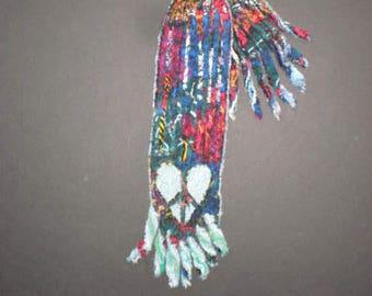 Scarf Eco Chenille Scarf Wearable Art Scarf Daniell LaPorte Scarf
