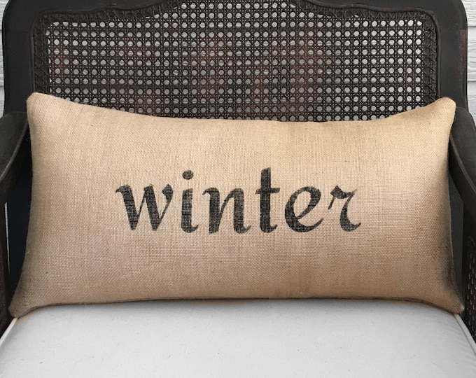 Seasons  Burlap  Pillow - Your choice of a Winter Pillow - Fall Pillow - Summer Pillow - Spring Pillow - Four Seasons - fall decor