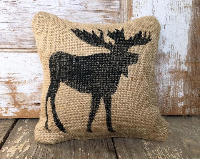 Wild Moose -  Burlap Doorstop  - Door Stop