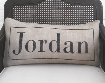 Classic Name Burlap Pillow