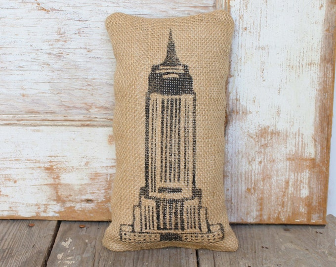 Empire State Building -  Burlap Doorstop - NYC -  Door Stop - New York City - Landmarks - Skyscaper