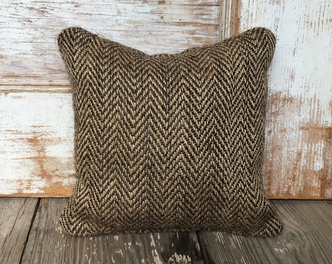 Herringbone Burlap Feed Sack Doorstop