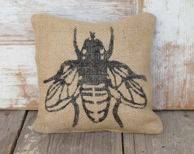 Save the Bees  -  Burlap Doorstop - Fabric Doorstop - Honey Bee Decor - Bumble Bee Decorations  - Door Stop - Garden Decor - Nature