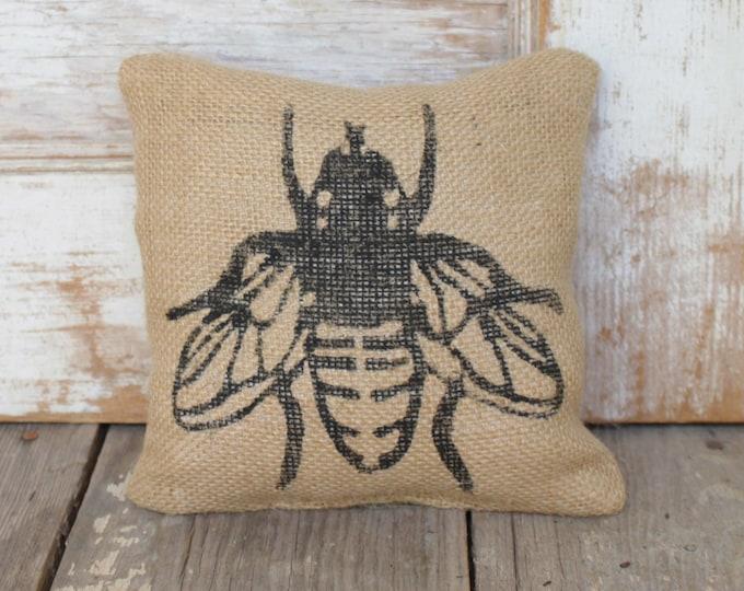 Save the Bees  -  Burlap Doorstop - Fabric Doorstop - Honey Bee Decor - Bumble Bee Decorations  - Door Stop - Garden Decor - Nature