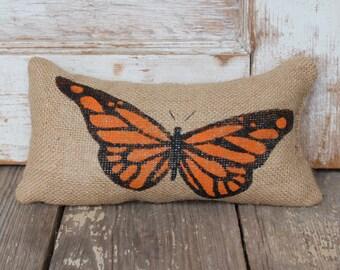 Butterfly -  Burlap Doorstop - Door Stop